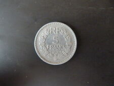 PIECE MONNAIE FRANCE 5 frs LAVRILLIER ALUMINIUM 1946