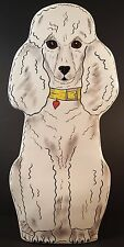 Dogs by Nina-Poodle Vase-Toy Poodle-Hand painted-Signed-Nina Lyman of Olalla, WA