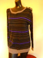 Womens Burton Sweater - Black & Purple Striped - Sz. XS - Fits like S/M