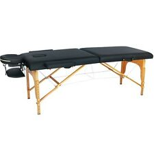 New Black PU Portable Massage Table w/Free Carry Case U1 Chair Bed Spa Facial B