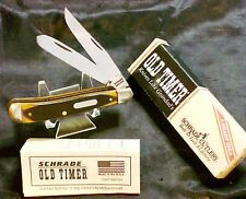 "Schrade 94OT Trapper Knife NOS ""Old Timer"" Original Schrade Packaging & Papers"