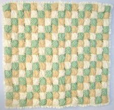 Natural Sage Unisex Baby Puff Biscuit Quilt Kit Pattern