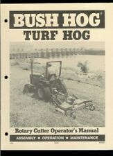 Rare Original Factory Bush Hog Turf Hog Rotary Cutter Owner's Manual
