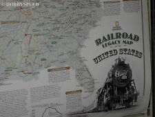 """NATIONAL GEOGRAPHIC RAILROAD LEGACY MAP 24"""" X 36"""" usa wall poster NGS1020719"""