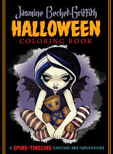 "Jasmine Becket-Griffith Halloween Coloring Book Fantasy Art NEW 8.5"" x 11"" 96 pg"