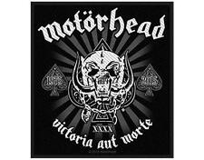 OFFICIAL LICENSED - MOTORHEAD - VICTORIA AUT MORTE SEW ON PATCH METAL LEMMY
