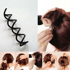 10pcs Black Spiral Spin Screw Bobby Pin Hair Clips Lady Twist Barrette Accessory