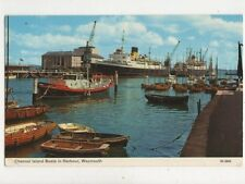 Channel Island Boats In Harbour Weymouth Postcard 840a