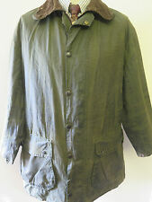 "Barbour A200 Border Waxed jacket - L 44"" Euro 54 in Sage"
