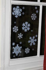 SNOWFLAKE REUSEABLE GLITTER WINDOW STICKERS CLING FROZEN XMAS DECORATIONS DECALS