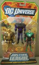 DC UNIVERSE JUSTICE LEAGUE UNLIMITED GOLDFACE EVIL STAR KYLE RAYNER 3-PACK NEW*