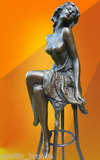 "ART DECO, BRONZE, ""Michelle"" SIGNED BRONZE STATUE FIGURE FIGURINE STATUETTE"