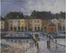 Fish Market At The Port Of Dieppe 1903 A3 Box Canvas