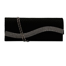 Rhinestone Satin Handbags Evening Party Wedding Clutch Purse Fashion Bag