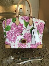 Dooney And Bourke Handbag Pink Floral NWT Hydrangea Crossbody Satchel