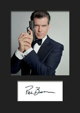 PIERCE BROSNAN #2 A5 Signed Mounted Photo Print (REPRINT) - FREE DELIVERY