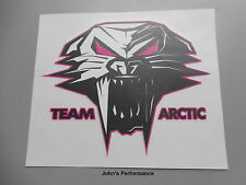 "Team Arctic Cat Pink Cathead Decal Sticker - Black Pink White 3"" 5243-131"