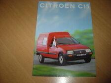 CATALOGUE Citroën C15  de 1994