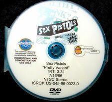 SEX PISTOLS Pretty Vacant (Live) Promotional Music Video DVD Single (NOT A CD)