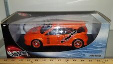 1/18 HOT WHEELS FORD FOCUS ORANGE WITH BLACK DECALS bd