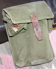 ~~ ROMANIAN ARMY AK-47 MAGAZINE POUCH Vintage Cold WAR era 3 Magazine Canvas ~~