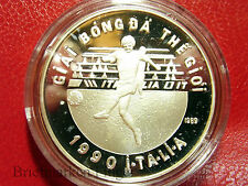 1989 Vietnam  Large Proof Silver 100 Dong-World Cup Soccer(Football)