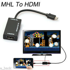 Mini Micro USB 2.0 MHL To HDMI Cable HD 1080P For Samsung Galaxy S2 For Android