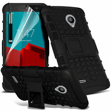 BLACK HEAVY DUTY TOUGH SHOCKPROOF WITH STAND CASE FOR Vodafone Smart Prime 6