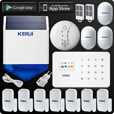 KERUI G18 Wireless GSM SMS Home House Security Alarm System Solar Power Siren