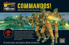 COMMANDOS - BOLT ACTION - WARLORD GAMES WW2 - 28mm WARGAMING - SENT FIRST CLASS