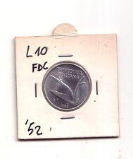 Repubblica Italiana 10 lire 1952    Spighe  Italma     FDC    (m872)