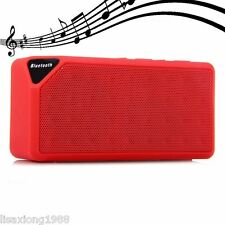 Red Bluetooth Wireless Hifi Stereo Speaker Portable For iPhone Samsung Tablet PC