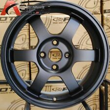 15X7 ROTA GRID WHEELS 4X100 FLAT BLACK RIMS FITS 4 LUG ACURA INTEGRA 1986-2001