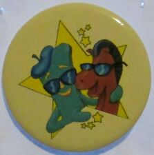 Vintage 1985 Gumby & Pokey Movie Star Pinback Button 1.5""