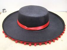 NEW Charro Mariachi Hat with Red Fringe