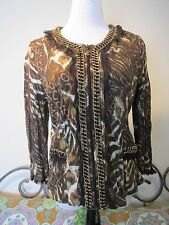 NWT ALBERTO MAKALI  Sz Extra Large JACKET BLAZER COAT ANIMAL PRINT  SIZE: XL