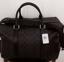 COACH Signature Explorer Men's Duffle Gym Travel Bag Mahogany/Brown F93456 NWT