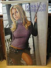 Vintage Jessica Simpson 2001 sweet kisses poster man cave hot girl NI 10361