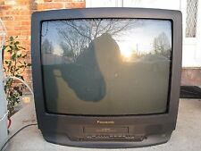 "PANASONIC PV-M2559 25"" TV VHS PLAYER VCR COMBO CRT GAMING COLOR TELEVISION CCTV"