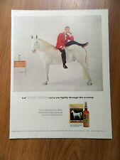 1956 Whiskey White Horse Ad  Carry You Lightly Through the Evening