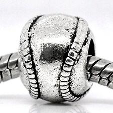 Base Ball Charms for European Snake Chain Charm Bracelet