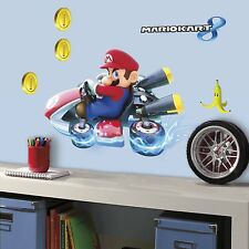 NINTENDO MARIO KART 8 Giant Wall Decals Room Decor Stickers Video Game COINS NEW