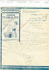 Dépt 87- Le Cluzeau - Belle Entête Lessive Floralite Parfumée à la Violette 1926