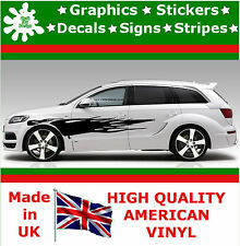 "10"" High Car Side Stripes Graphic Decal Vinyl Stickers Van Auto Rally Race F1_11"