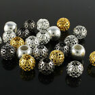 Wholesale 10mm Mesh Net Ball European Charms Big Hole Loose Beads Fit Bracelet