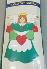 "Country Angel Sculpted Flag Meadow Creek Applique Nylon Garden NEW 28"" x 40"""