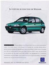 PUBLICITE ADVERTISING 094 1999 PEUGEOT 106 la voiture de fonction de Madame