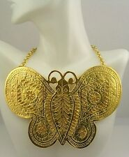 "Kenneth Jay Lane "" In Time""  Butterfly Necklace"