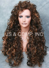 Full Curly and Long layered Stunning wig perm tease Brown mix JSN 4-27