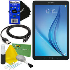 "Samsung Galaxy Tab E 9.6"" 16GB Wi-Fi Tablet (Black) + 5pc Cleaning Kit+HeroFiber"